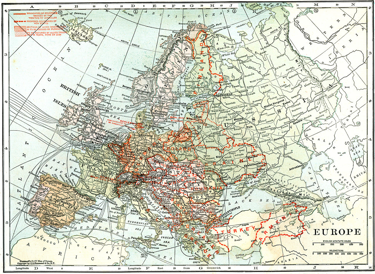 File:Map of Europe in 1920, after the Paris Peace ...