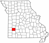 Map of Missouri highlighting Dade County.png