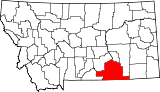 Map of Montana highlighting Big Horn County.svg
