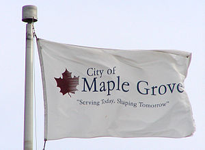 Maple Grove, Minnesota - Image: Maplegroveflag