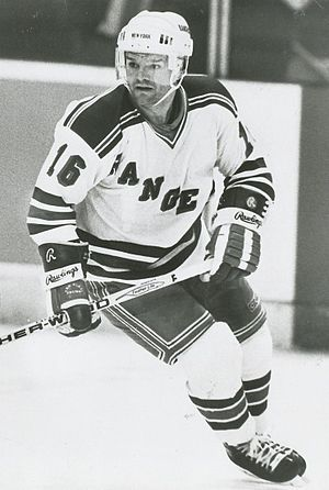 Marcel Dionne - Dionne playing for the New York Rangers in 1987