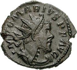 Marcus Aurelius Marius - Antoninianus Trier (obverse).jpg