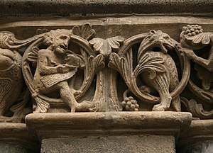 Romanesque art - Carving from Maria Laach Abbey, in the Eifel, Rhineland.