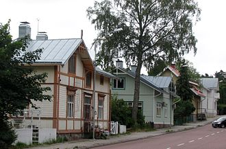 Mariehamn - Södragatan, one of the oldest streets of Mariehamn.
