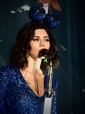 Marina and the Diamonds - Image: Marina and the Diamonds, Roundhouse, London (Neon Nature Tour) 01