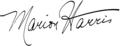 Marion Harris's Autograph.png