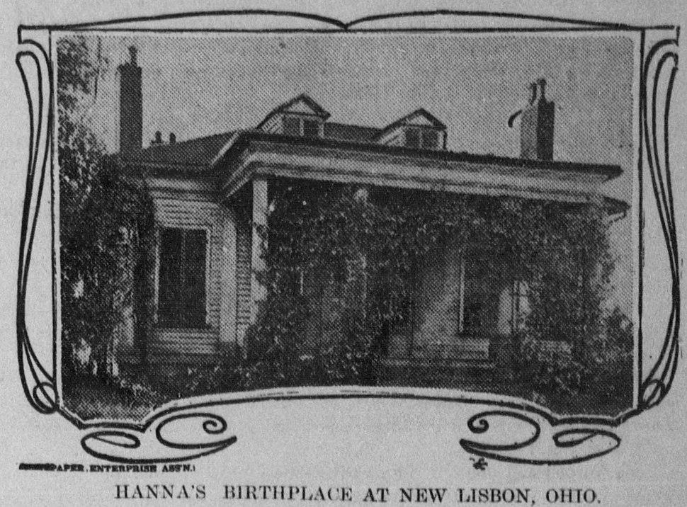 Mark Hanna's birthplace in New Lisbon, OH