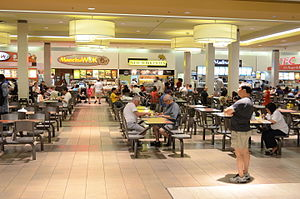 Markville Shopping Centre - Old Markville Mall food court before it was relocated in 2012. This space has been turned into stores. Places seen in the photo are A&W, Manchu Wok, New York Fries, Villa Madina, and KFC.