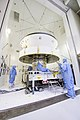Mars 2020 spacecraft undergoes examination prior to an acoustic test PIA23264-D2019 0411 RL1711.jpg