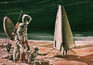 Human mission to Mars - Artist's conception of the Mars Excursion Module (MEM) proposed in a NASA study in 1963.