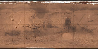 Classical albedo features on Mars - Image: Mars Géolocalisation