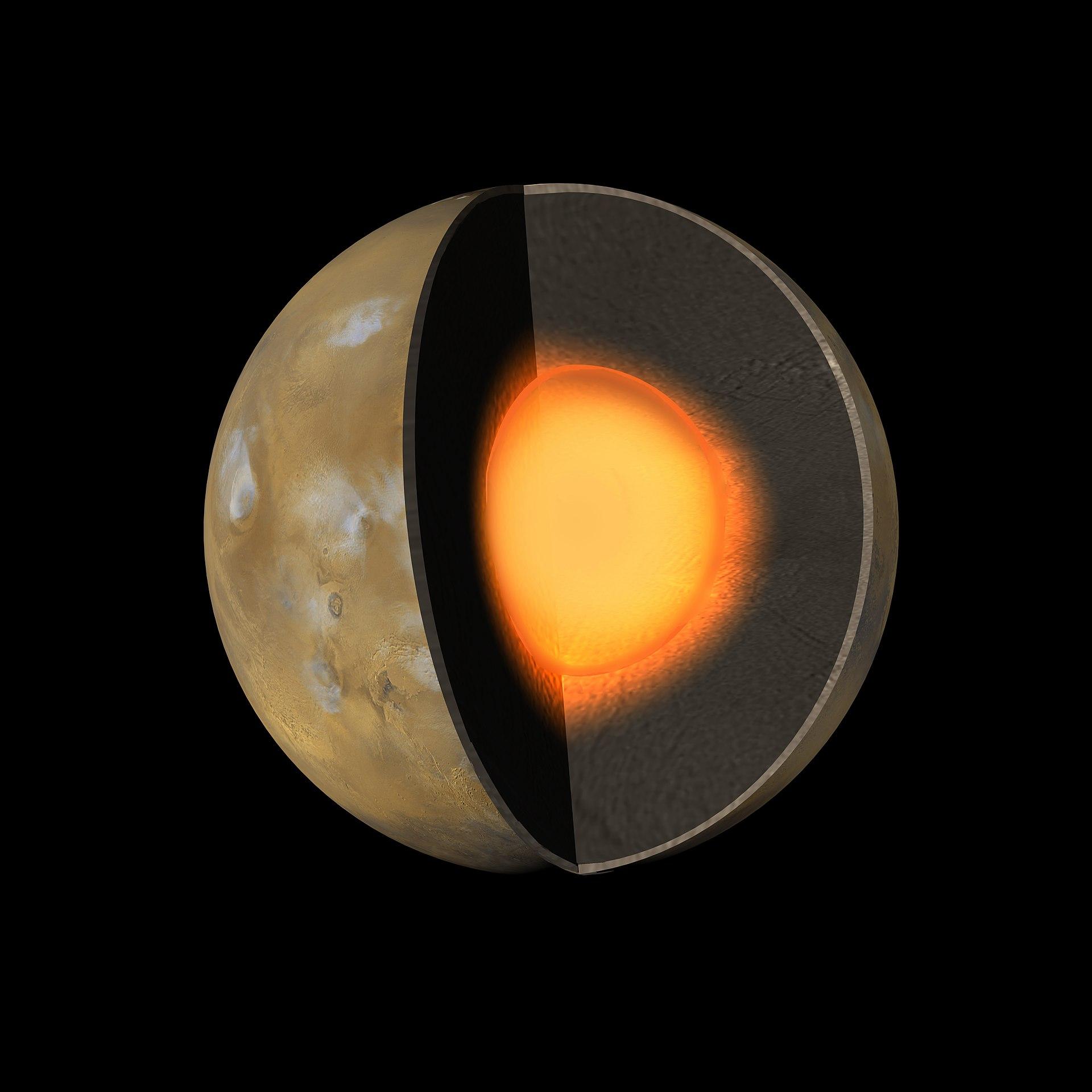 Struttura interna di Marte - Wikipedia