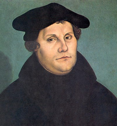 Martin Luther, Saxon priest, monk and theologian, seminal figure in Protestant Reformation