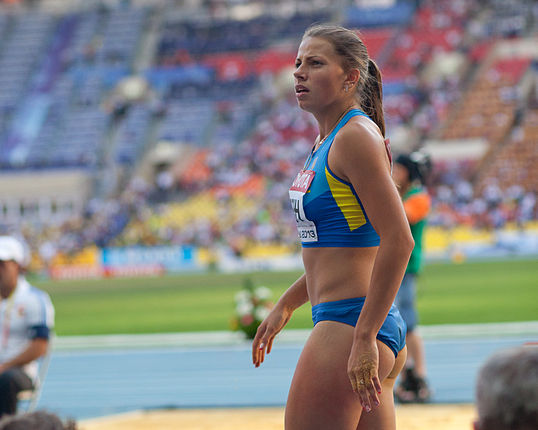 Maryna Bekh (2013 World Championships in Athletics) 06.jpg