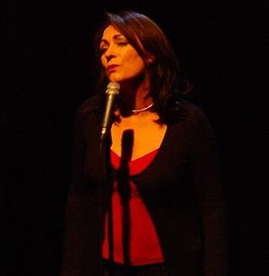 Mary Black - Black performing at the Olympia Theatre, Dublin in 2005