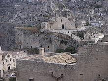 Il Sasso Caveoso con vista di Santa Maria di Idris