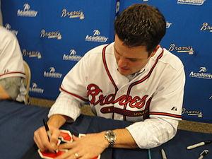 Matt Diaz - Diaz signing autographs in 2012