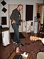 Matt Running Cable, Recording Fischer, Compound Recordings, January 2008.jpg