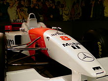 Photo du museau de la McLaren MP4/11 de David Coulthard