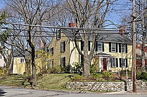 National Register of Historic Places listings in Medford, Massachusetts - Image: Medford MA Albree Hall Lawrence House
