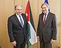 Meeting between Johannes Hahn, Member of the EC, and Hani Al-Mulki, Jordanian Prime Minister.jpg