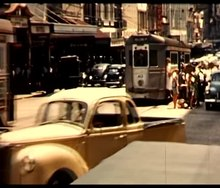 File:Melbourne trams and The Australian Hotel, circa 1955-1956.webm