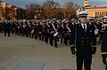 Members of the U.S. Merchant Marine Band move to their position for the presidential inauguration parade in Washington, D.C 130121-A-SV709-364.jpg
