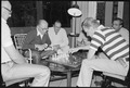 Menahem Begin and Zbigniew Brzezinski play chess during the Camp David Summit. - NARA - 181173.tif