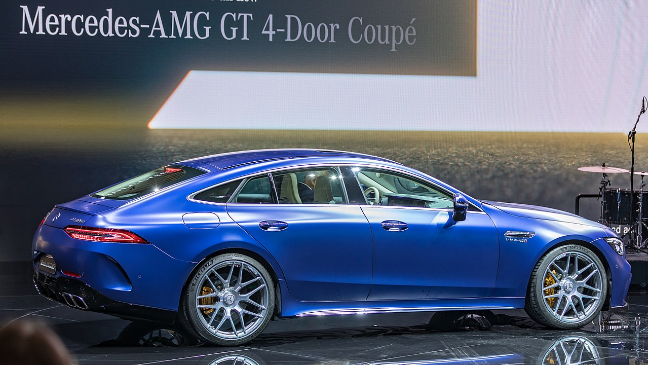 Mercedes C Coupe >> File:Mercedes-AMG GT 4-Door Coupe, GIMS 2018, Le Grand
