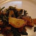 Methi Bhaji (Fenugreek leaves with potato) (1303338041).jpg