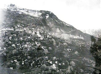 Metsovo - Panorama of Metsovo, 1899. Photo by the Manaki brothers (damaged glass plate)