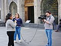 Mexican news crew- near Hemiciclo a Benito Juárez- day after International Day for the Elimination of Violence against Women 2019.jpg