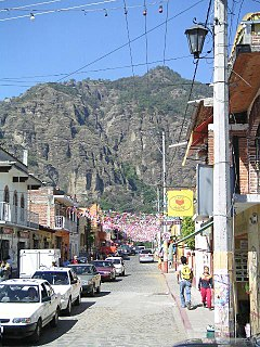 Tepoztlán town in the Mexican state of Morelos