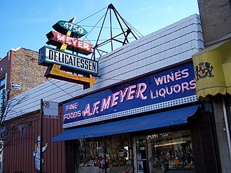 Lincoln Square, Chicago - The old Meyer Delicatessen where Gene's Sausage Shop now stands.
