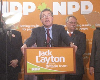 Michael Cassidy (Canadian politician) - Cassidy speaks at a federal NDP rally in 2006