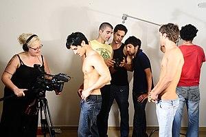 Michael Lucas (director) - Image: Michael Lucas Men of Israel film shoot
