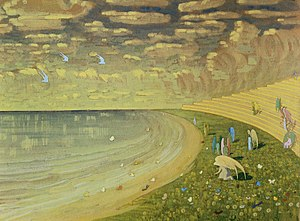 1909 in art - Image: Mikalojus Konstantinas Ciurlionis ANGELS (PARADISE) 1909