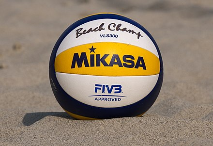 Mikasa VLS300, official ball for the 2017 FIVB Beach Volleyball World Tour Mikasa VLS300 official beach volleyball.jpg
