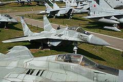 Mikoyan MiG-29 Fulcrum prototype 01 blue (9923238334).jpg