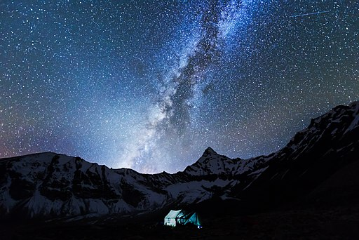 Milky Way Galaxy As Seen From Amphulaptsa Base Camp