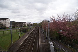 Milliken Park station looking southwest - 2012-04-26.jpg