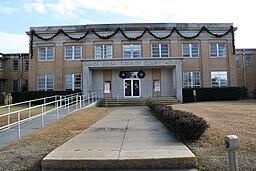 Santa Lyserød Countys domstolhus i Milton.