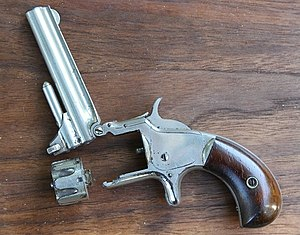 Smith & Wesson Model 1 - Model One Third issue. Open for loading