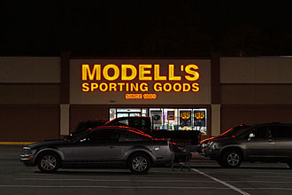 Modell's Sporting Goods - Modell's sporting goods store in Saugus, Massachusetts. This location was closed in 2017.