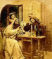 Moines buvant et jouant aux cartes vers 1850.jpg