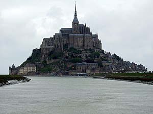 Couesnon - The mouth of the Couesnon, at Mont Saint-Michel.