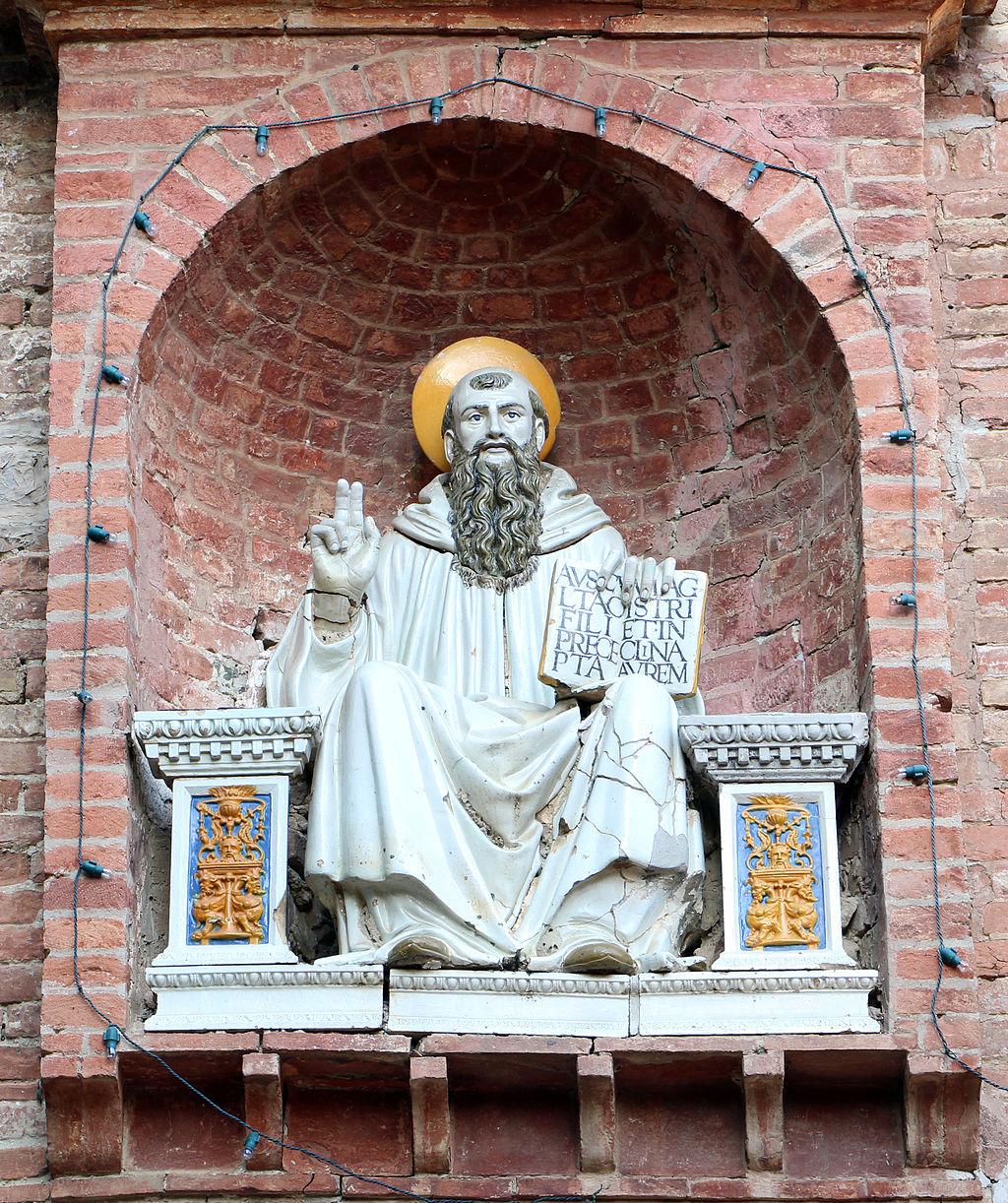 Monte Oliveto Maggiore, barbacane, Scuola Robbiana, San Benedetto