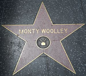 English: Monty Woolley's star on the Hollywood...