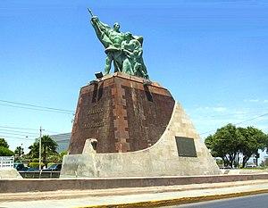 Tomás Sánchez (captain) - Sánchez monument in Nuevo Laredo