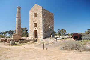 Moonta Mines, South Australia - The former Hughes' Enginehouse